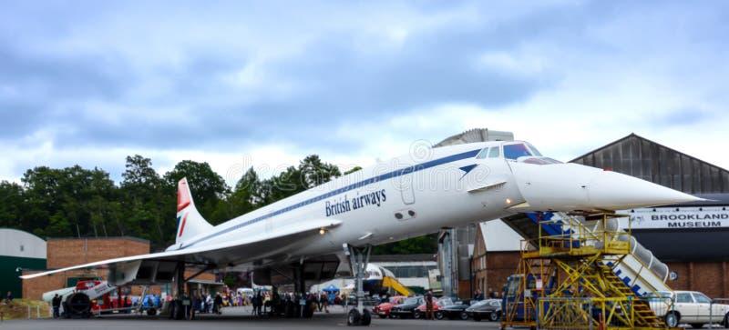 Concorde Supersonic Aircraft royaltyfri bild