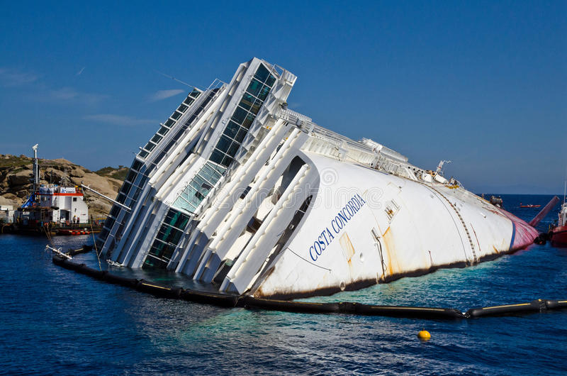 Concordia da costela do cruzeiro foto de stock royalty free