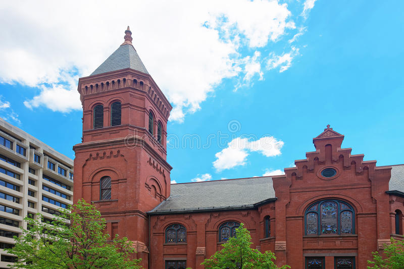 Concordia German Evangelical Church and Rectory in Washington DC USA. Concordia German Evangelical Church and Rectory is located in Washington D.C., USA. It is royalty free stock image