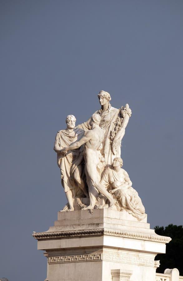 Concordia, kalmering tussen de monarchie en de mensen Het Vierkant van Patria Venetië van Altaredella, R stock foto's