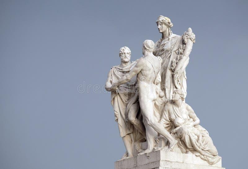 Concordia, kalmering tussen de monarchie en de mensen Het Vierkant van Patria Venetië van Altaredella, R royalty-vrije stock foto's