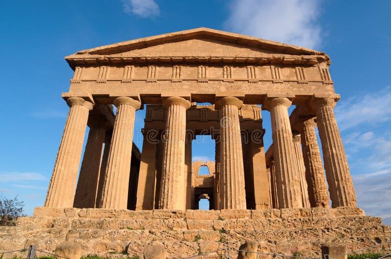 Concordia Tempel in Agrigent, Sizilien, Italien stockfotografie