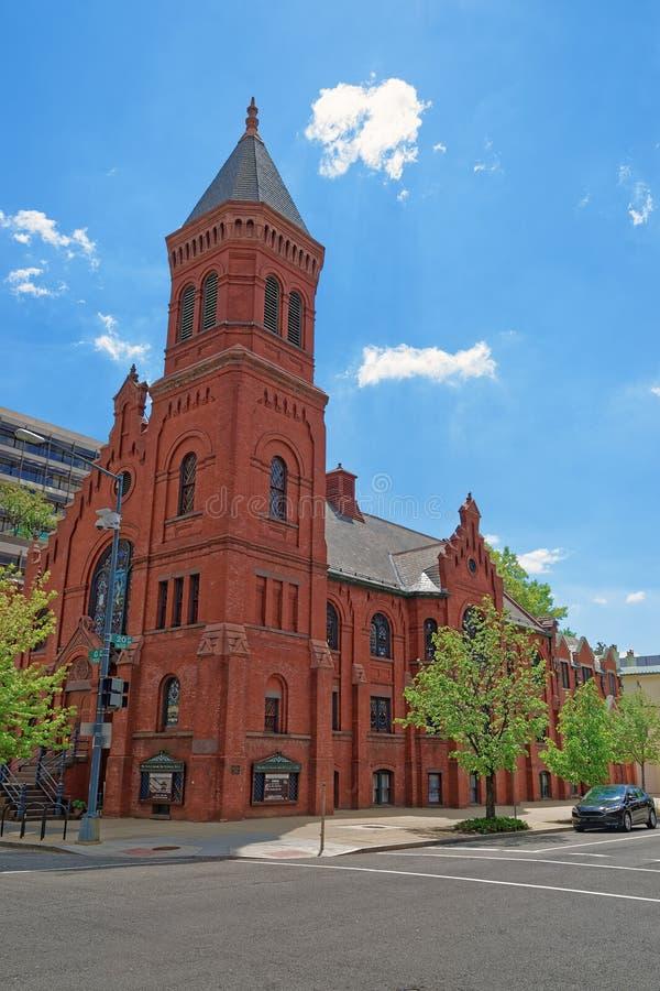 Concordia tysk evangelikal kyrka och prästgård i Washington DC royaltyfri foto