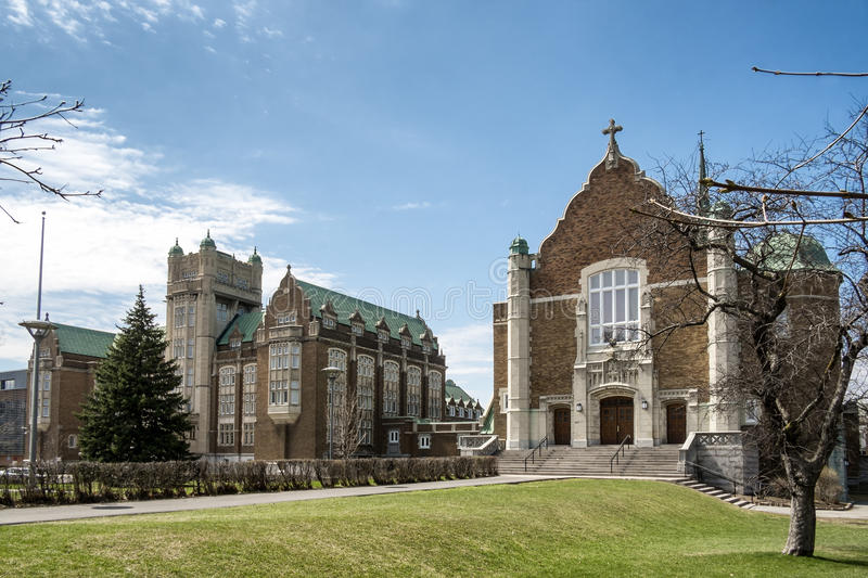 Concordia university Loyola campus. The Chapel is a consecrated and a sacred space at Loyola campus to host as well as celebrate special events for students stock images
