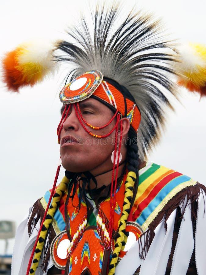 Concorrente #5 do nativo americano fotografia de stock royalty free