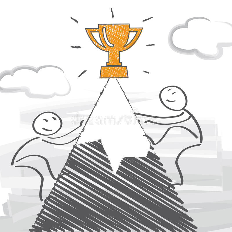 concorrentes ilustração do vetor