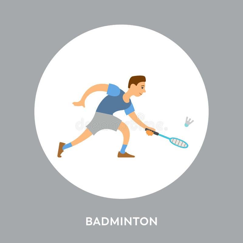 Concorrenti di sport della racchetta sul torneo badminton royalty illustrazione gratis