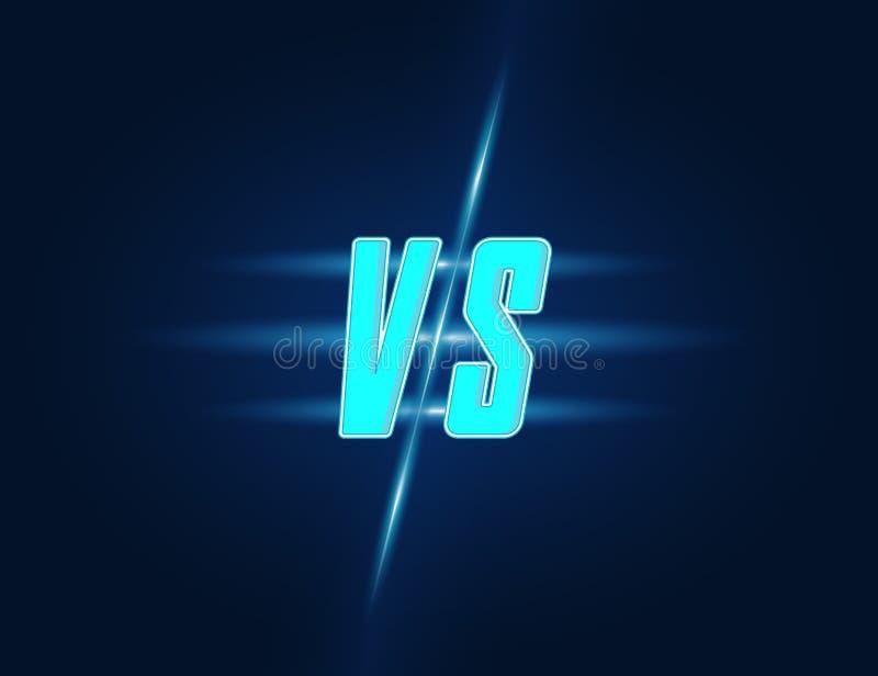 Concorrenza contro su fondo scuro Vettore illustrazione vettoriale