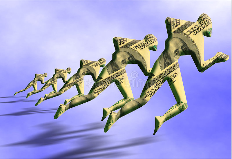 Concorrenza dei soldi royalty illustrazione gratis