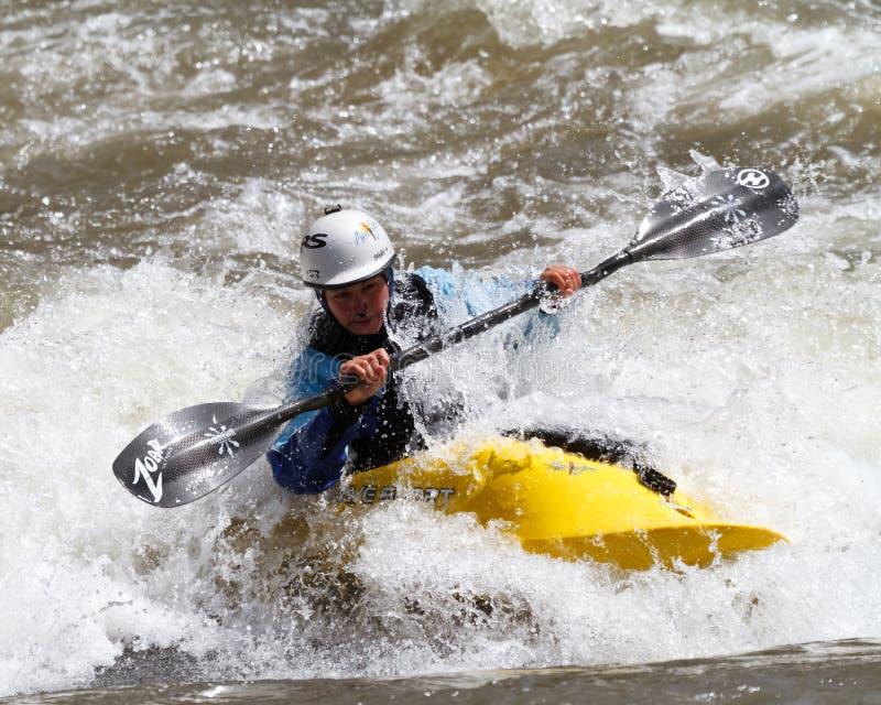 Concorrenza del Kayaker fotografie stock libere da diritti