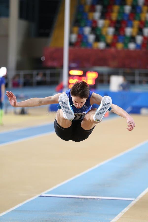 Concorrenza dell'interno della soglia olimpica atletica turca di federazione fotografie stock