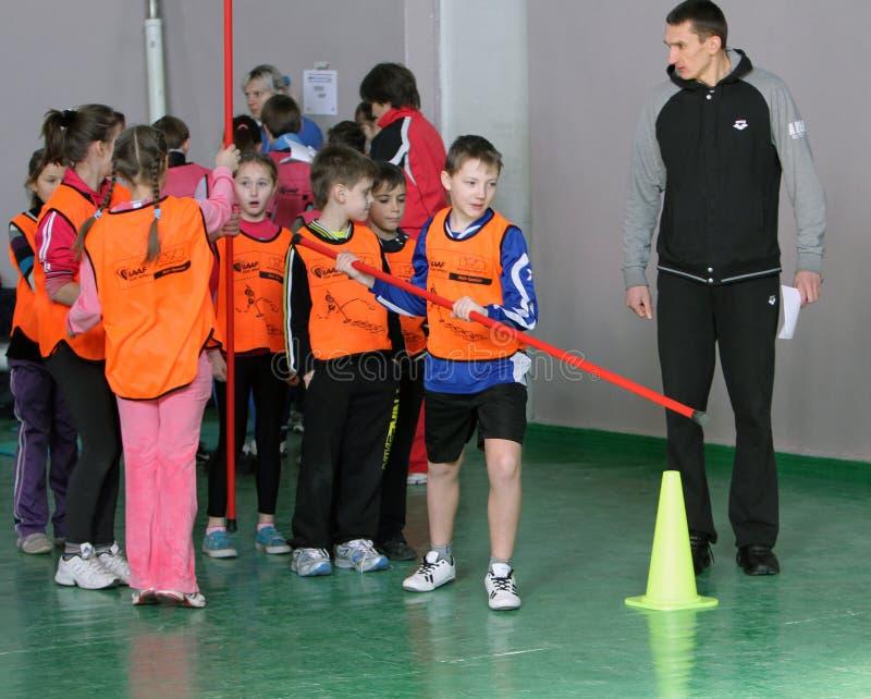 Concorrenza di atletismo dei bambini immagine stock libera da diritti