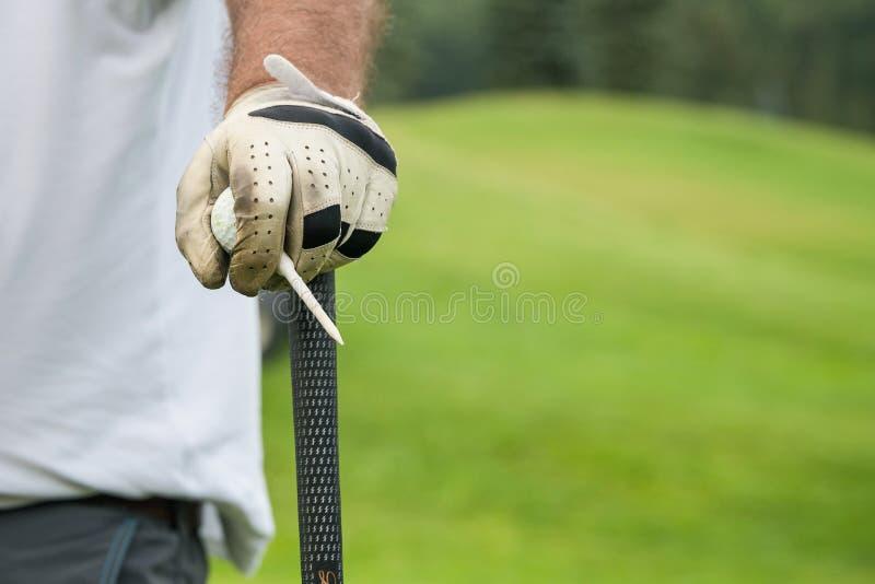 Concorrenza di golf del club che gioca il gioco divertente di sport fotografie stock