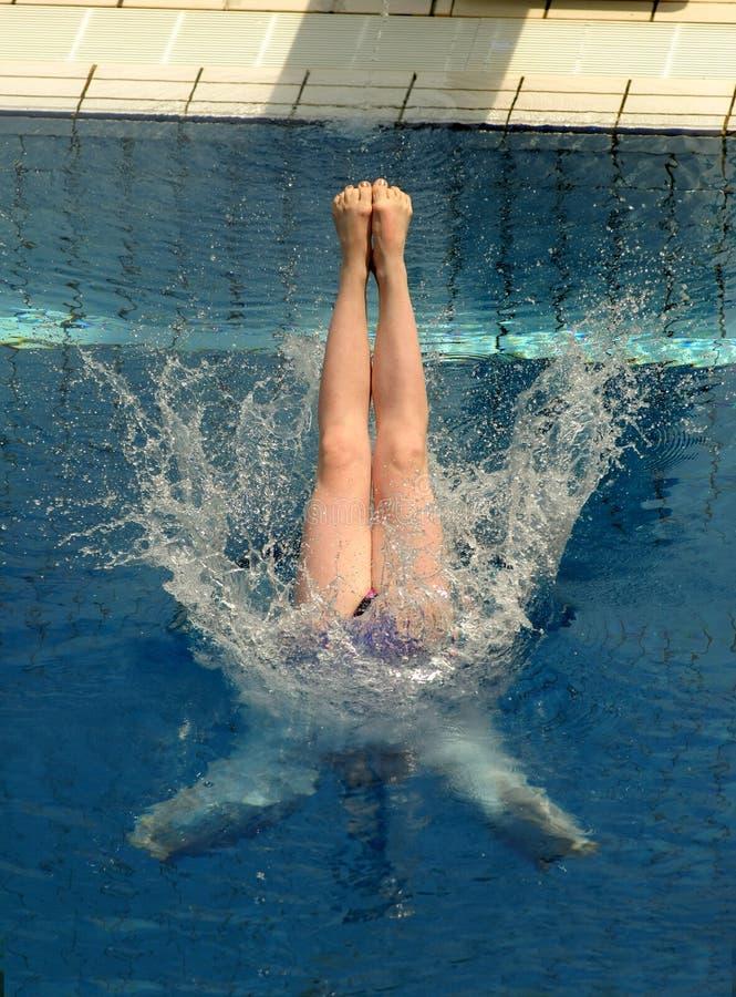 Concorrenza di immersione subacquea immagine stock libera da diritti