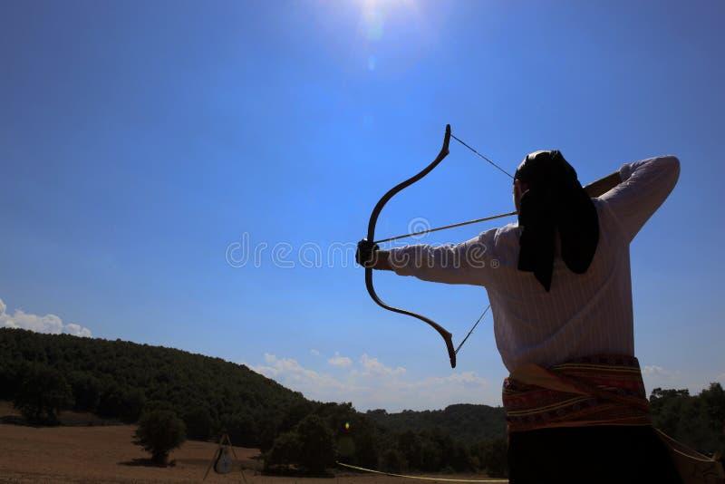 Concorrenza di tiro con l'arco in Turchia fotografie stock
