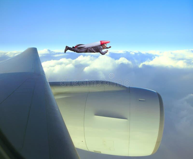 Concorrenza di trasporto w di velocità del razzo di strategia dell'uomo di affari di volo immagini stock