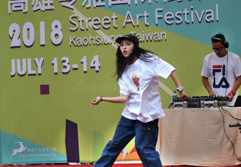 Concorrenza hip-hop di ballo fotografie stock libere da diritti
