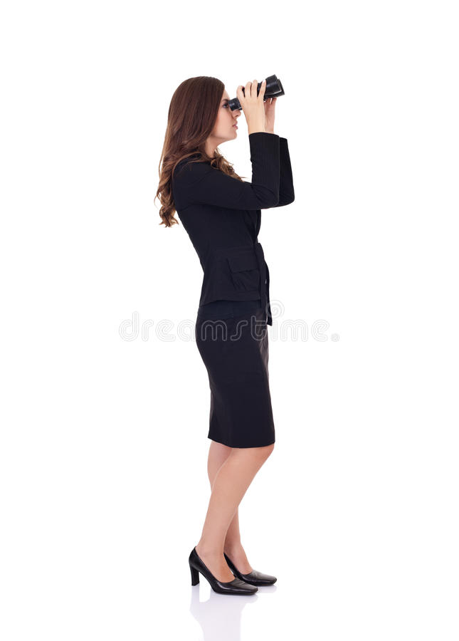 Concorrenza osservata di affari fotografia stock