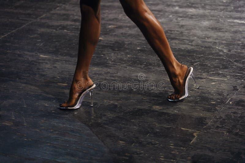 Concorsi snelli posteriori di culturismo del bikini di forma fisica delle donne delle gambe fotografia stock libera da diritti