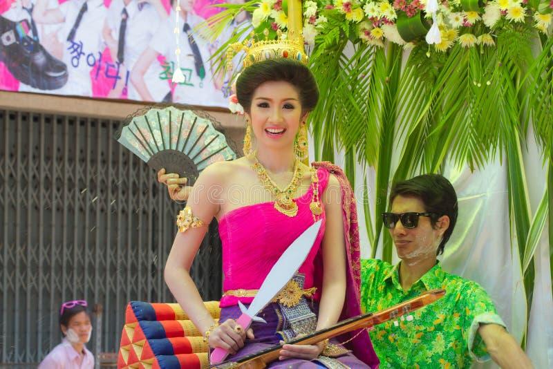 Concorso di bellezza di Songkran fotografia stock libera da diritti