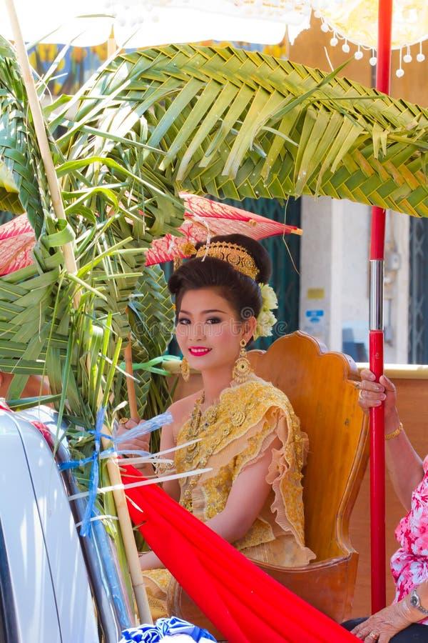 Concorso di bellezza di Songkran immagine stock libera da diritti