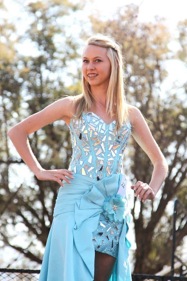 Concorso di bellezza teenager della ragazza al festival Sudafrica fotografia stock libera da diritti