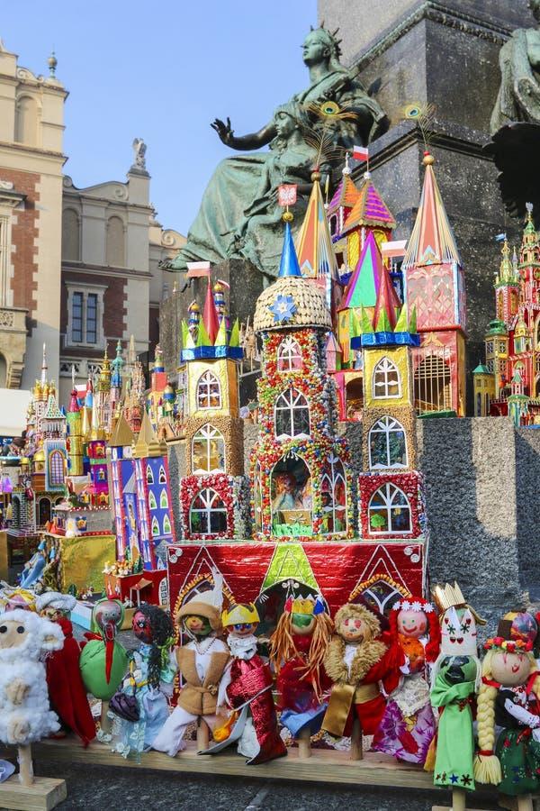 Concours annuel de scènes de nativité, Cracovie, Pologne photographie stock libre de droits