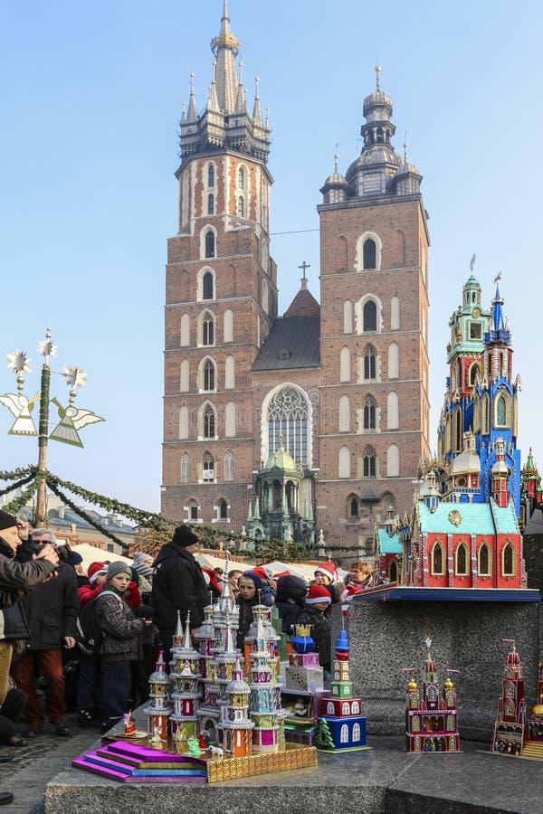 Concours annuel de sc?nes de nativit?, Cracovie, Pologne photographie stock libre de droits