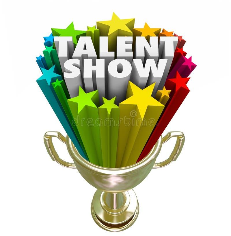 Concours d'interprète de gagnant de trophée d'exposition de talent le meilleur illustration de vecteur