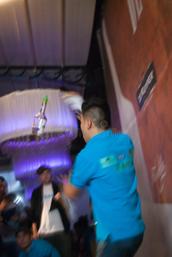 Concours de barman photographie stock libre de droits