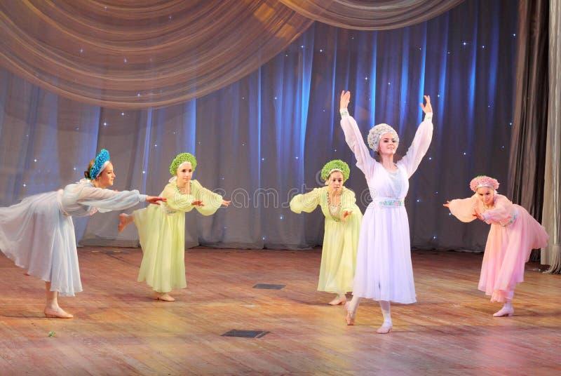 Concours de la danse des enfants photos libres de droits