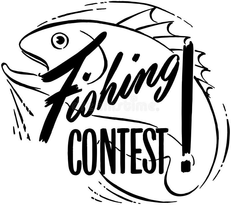 Concours de pêche illustration libre de droits
