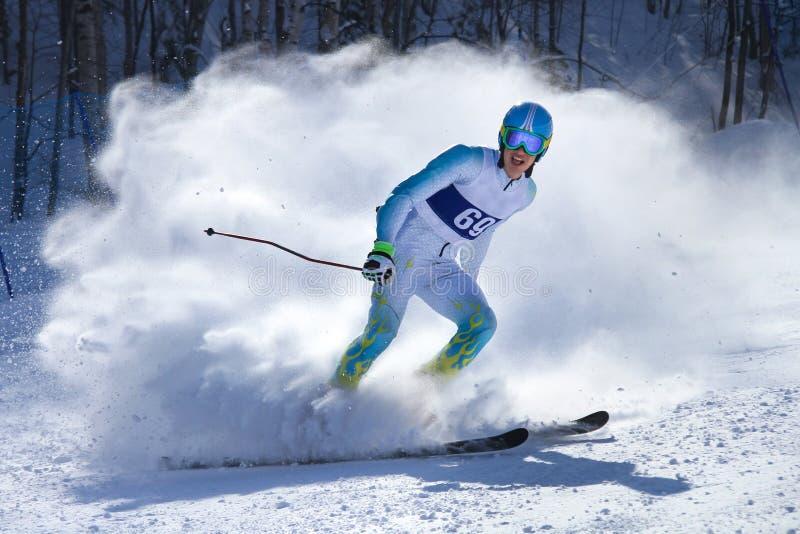 Concours sur le ski de montagne photo libre de droits