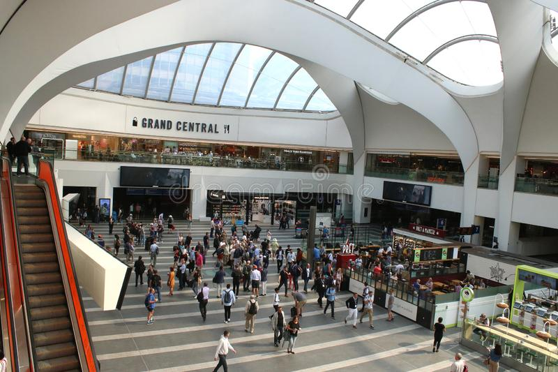 Concourse, Grand Central, Birmingham, Anglia fotografia royalty free