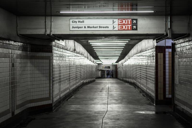 Concourse w Centrum mie?cie, Filadelfia, Pennsylwania zdjęcia royalty free