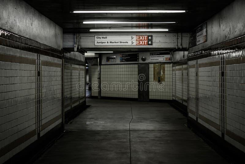 Concourse w Centrum mie?cie, Filadelfia, Pennsylwania obraz stock