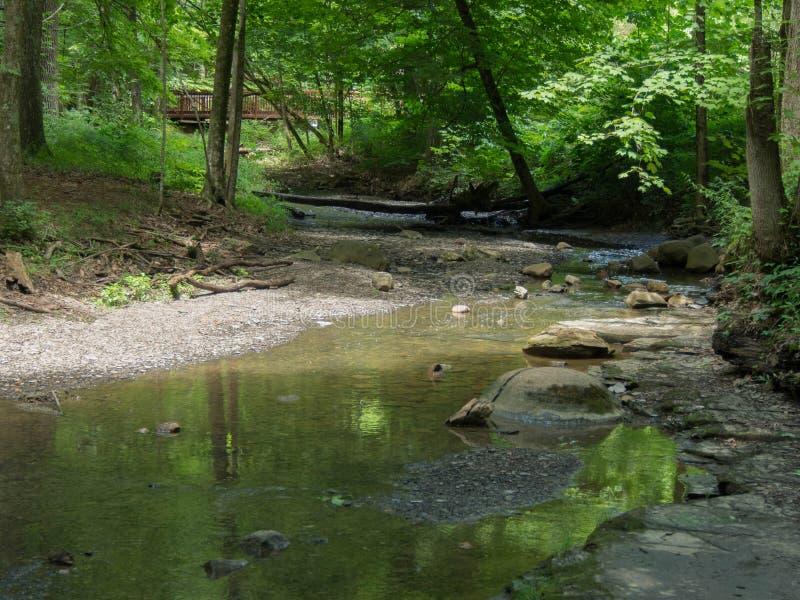 Concrétions en rivière image libre de droits