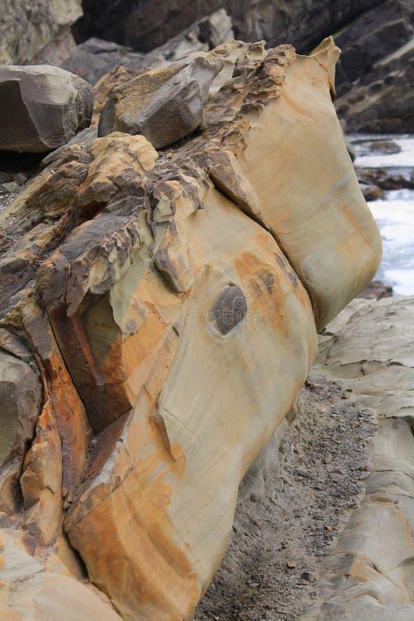 Concreção, acres parque estadual da costa, Oregon imagem de stock