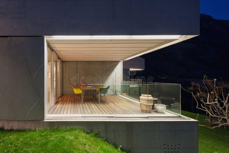 Concreet huis terras stock afbeelding afbeelding bestaande uit