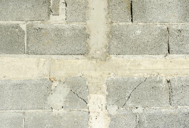 Concret bricky grå bakgrund av naturligt cement arkivfoton