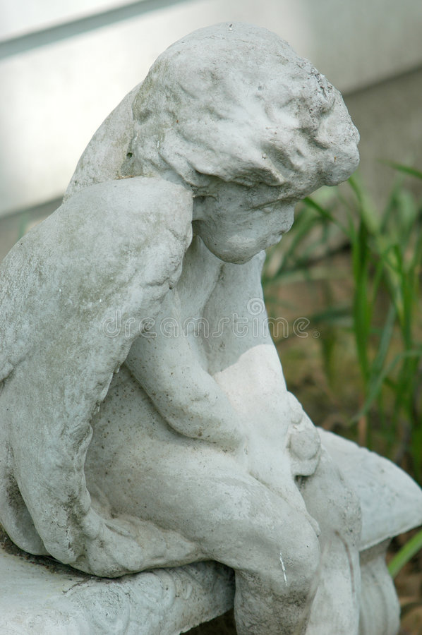 Download Concrete Angel stock photo. Image of statue, bench, symbol - 3068