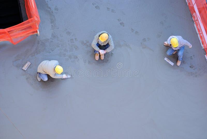 Concrete Arbeiders royalty-vrije stock foto's
