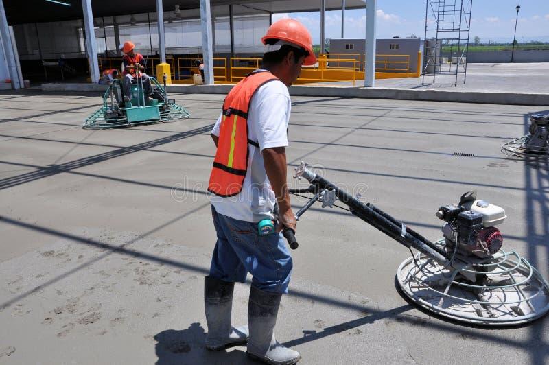 Concrete Arbeiders royalty-vrije stock foto