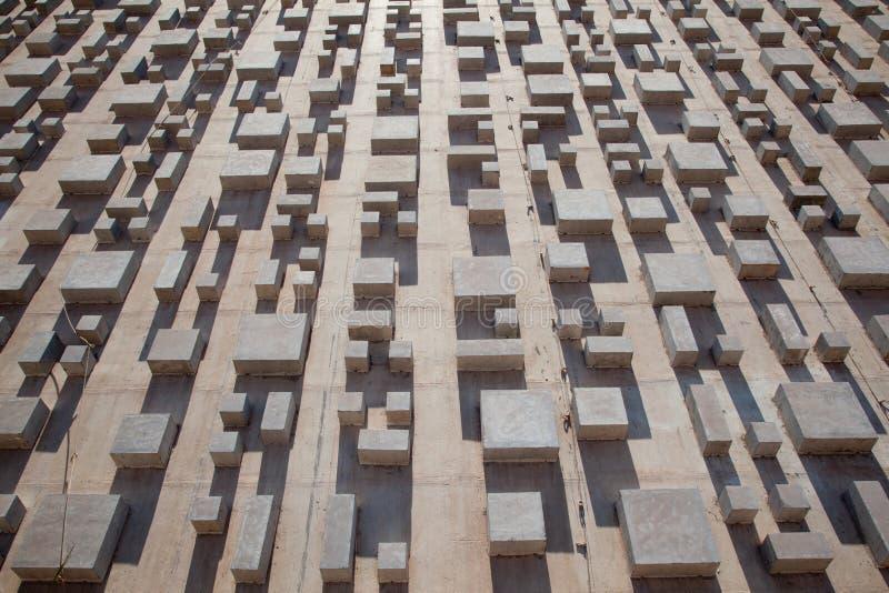 Concrete Architectuur royalty-vrije stock afbeelding