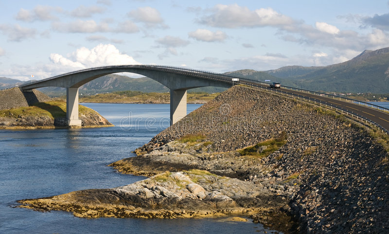 Concrete autobrug stock foto's