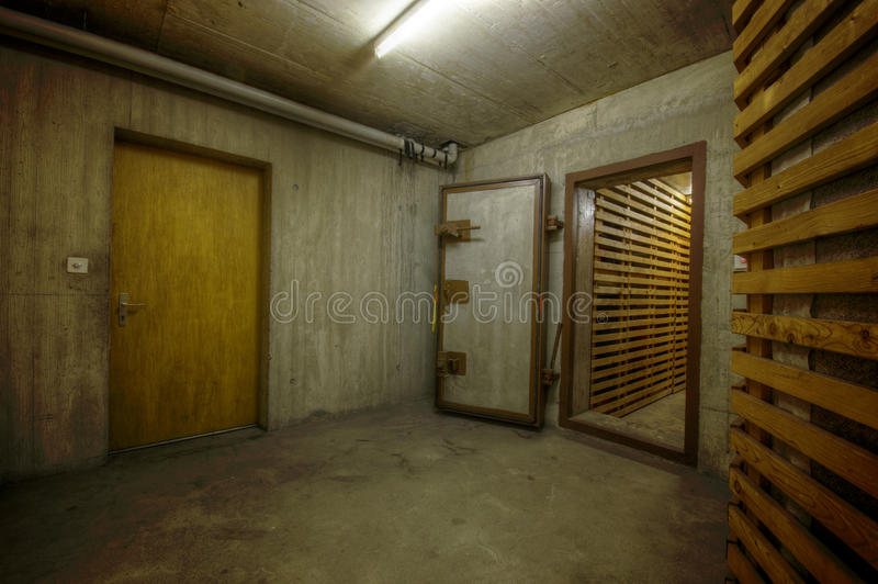 Concrete Basement stock image