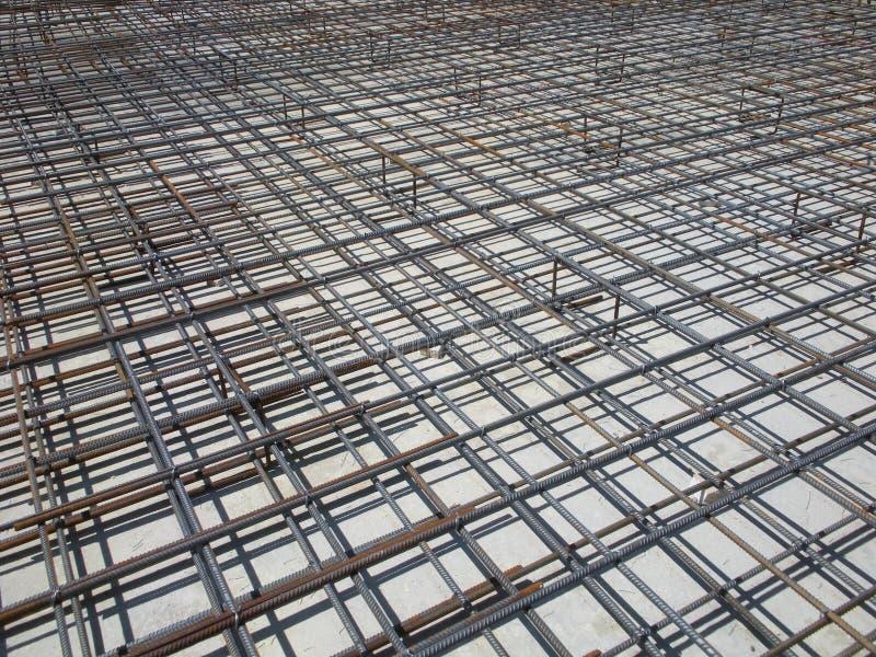 Concrete Betonstalen bij een Bouwwerf stock fotografie