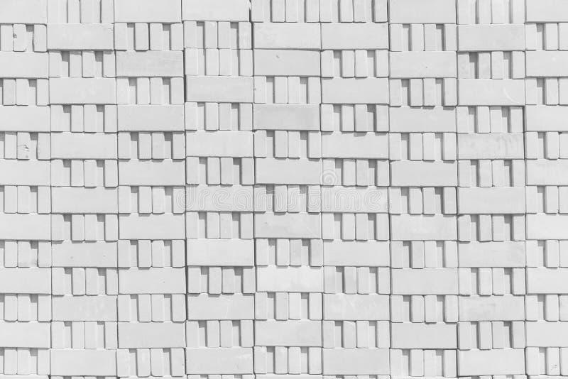 Concrete block pattern white texture royalty free stock photo