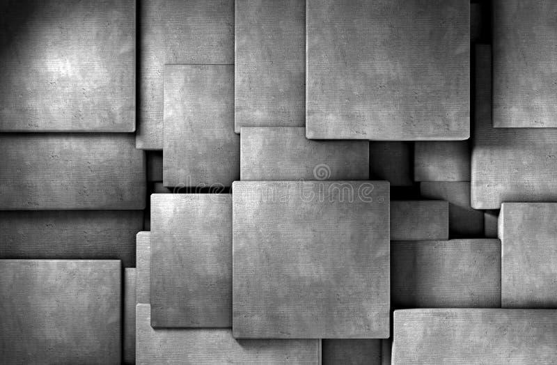 Download Concrete blocks stock illustration. Image of dark, gray - 26640804
