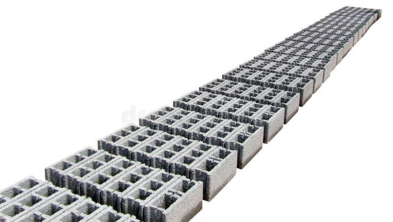 Concrete blocks -  Gray - Perspective